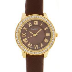 Bay Studio Womens Roman Numeral Rhinestone Strap Watch