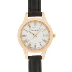 Womens Roman Numeral Faux Croco Strap Watch