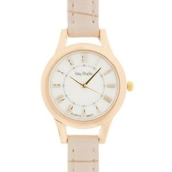Bay Studio Womens Roman Numeral Faux Croco Strap Watch