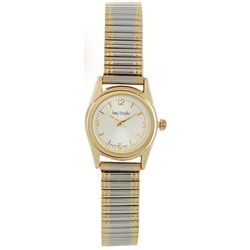 Bay Studio Womens Two Tone Circle Stretch Watch