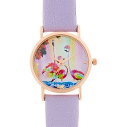 Ellen Negley Womens Funky Flamingos Watch