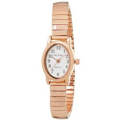 Bay Studio EZ Read Oval Dial Rose T Stretch Watch