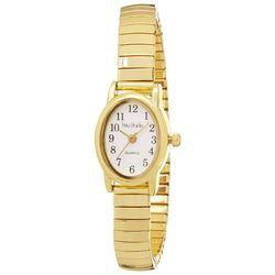 Bay Studio EZ Read Oval Dial Gold T Stretch Watch