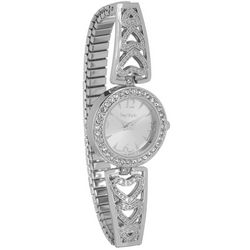 Bay Studio Silver Tone Crystal Dial Stretch Watch