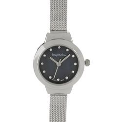 Bay Studio Silver Tone Narrow Mesh Strap Watch