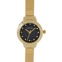 Bay Studio Gold Tone Narrow Mesh Band Watch