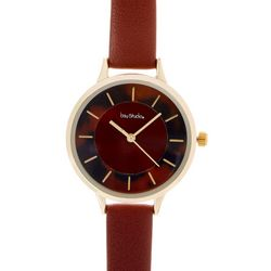 Bay Studio Brown Tortoise Dial Brown Strap Watch