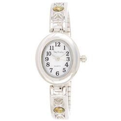 Bay Studio Womens EZ Read Oval Stretch Watch
