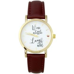 Bay Studio Womens Wine A Little Brown Strap