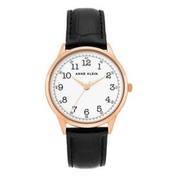Anne Klein Womens Easy Read Round Strap Watch