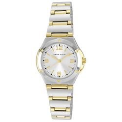 Anne Klein Womens Two Tone Round Bracelet Watch