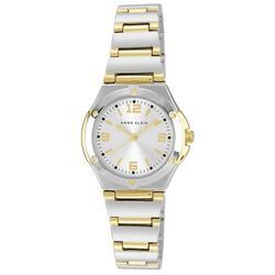 Womens Two Tone Round Bracelet Watch