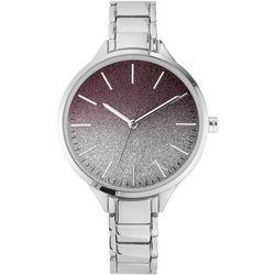 Nine West Womens Silver Tone Ombre Round Bracelet Watch