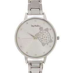 Bay Studio Womens Silver Tone Turtle Add A Link Watch
