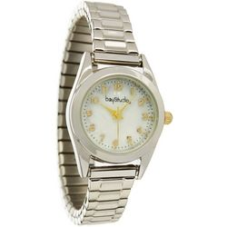 Bay Studio Womens EZ Read MOP Stretch Watch