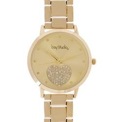Bay Studio Womens Round Dial Heart Add A Link Watch