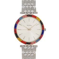 Bay Studio Womens Multi Rhinestone Round Dial Watch
