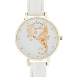 Bay Studio Womens Seahorse White Strap Watch