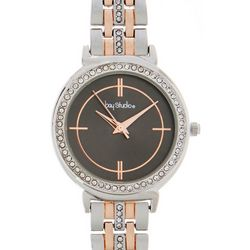 Bay Studio Womens Two Tone Roman Numeral Watch