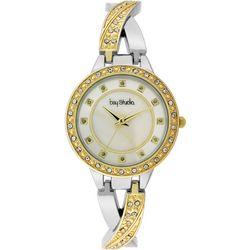Bay Studio Womens Rhinestone Twist Bracelet Watch