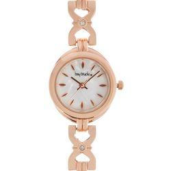 Bay Studio Womens Rose Gold Tone MOP Bracelet Watch