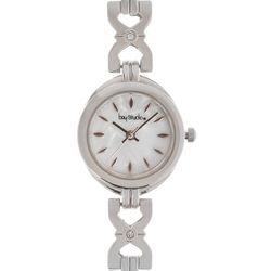Bay Studio Womens Silver Tone MOP Dial Bracelet Watch