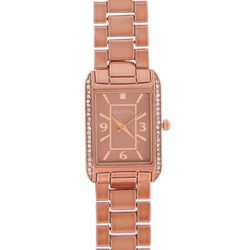Bay Studio Brown Rectangle Dial Add A Link Watch