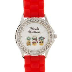 Brighten the Season Womens Holiday Pineapple Watch