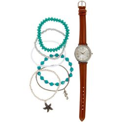 Bay Studio Womens 7-pc. Coastal Watch & Bracelets Set