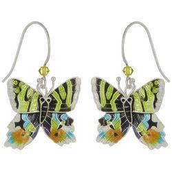 Bamboo Jewelry Brilliant Sunset Moth Drop Earrings
