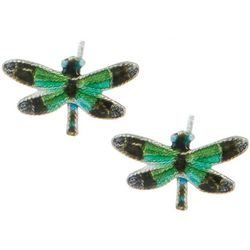 Bamboo Jewelry Radiant Gossamer Wing Dragonfly Stud Earrings