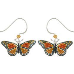 Bamboo Jewelry Monarch Butterfly Drop Earrings