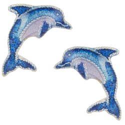 Bamboo Jewelry Bottlenose Dolphin Stud Earrings