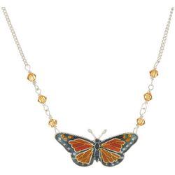 Bamboo Jewelry Blue Morpho Butterfly Drop Earrings