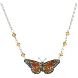 Bamboo Jewelry Monarch Butterfly Sterling Silver Necklace