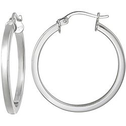 Signature 30mm Sterling Silver Hoop Earrings