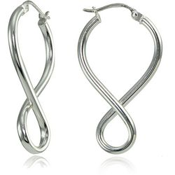 Signature Sterling Silver Twisting Earrings