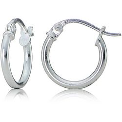 Signature Sterling Silver 10mm Hoop Earrings