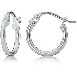 Sterling Silver 10mm Hoop Earrings