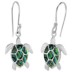 Beach Chic Abalone Sea Turtle Earrings