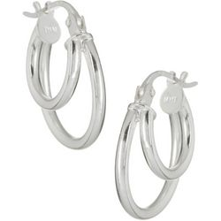 Signature 15mm Double Hoop Earrings