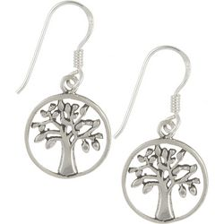 Signature Sterling Silver Tree Of Life Earrings