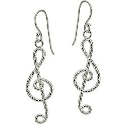 Signature Sterling Silver Music Note Earrings