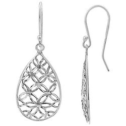 Signature Filigree Teardrop Sterling Silver Earrings