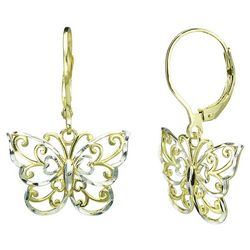 Signature Two Tone Butterfly Earrings