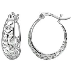 Signature Filigree Sterling Silver Hoop Earrings