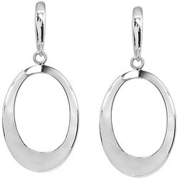 Signature Sterling Open Oval Ring Drop Earrings