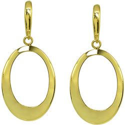 Signature Gold Plated Open Ring Drop Earrings