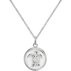 Signature Sterling Silver Turtle Disc Necklace