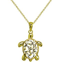 Signature Gold Plated Sterling Turtle Necklace